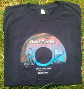 """Image of Roots Garden T-shirts , Hand screen printed """"Just One Dub"""" (Navy)"""