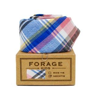 Image of blue plaid {kids necktie}