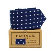 Image of navy dot {kids necktie}