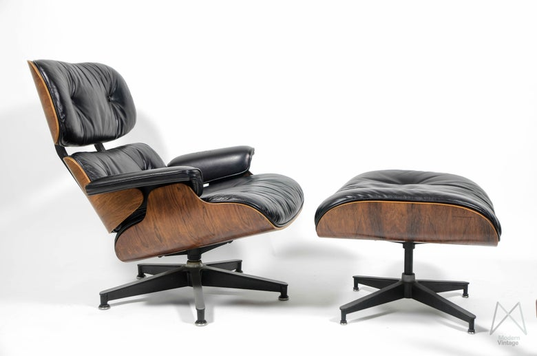 Image of Eames Herman Miller Rio Rosewood Palissander Lounge Chair kaufen
