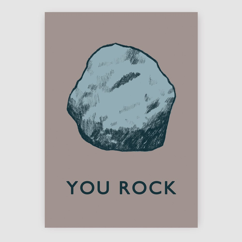 Image of You Rock Greetings Card