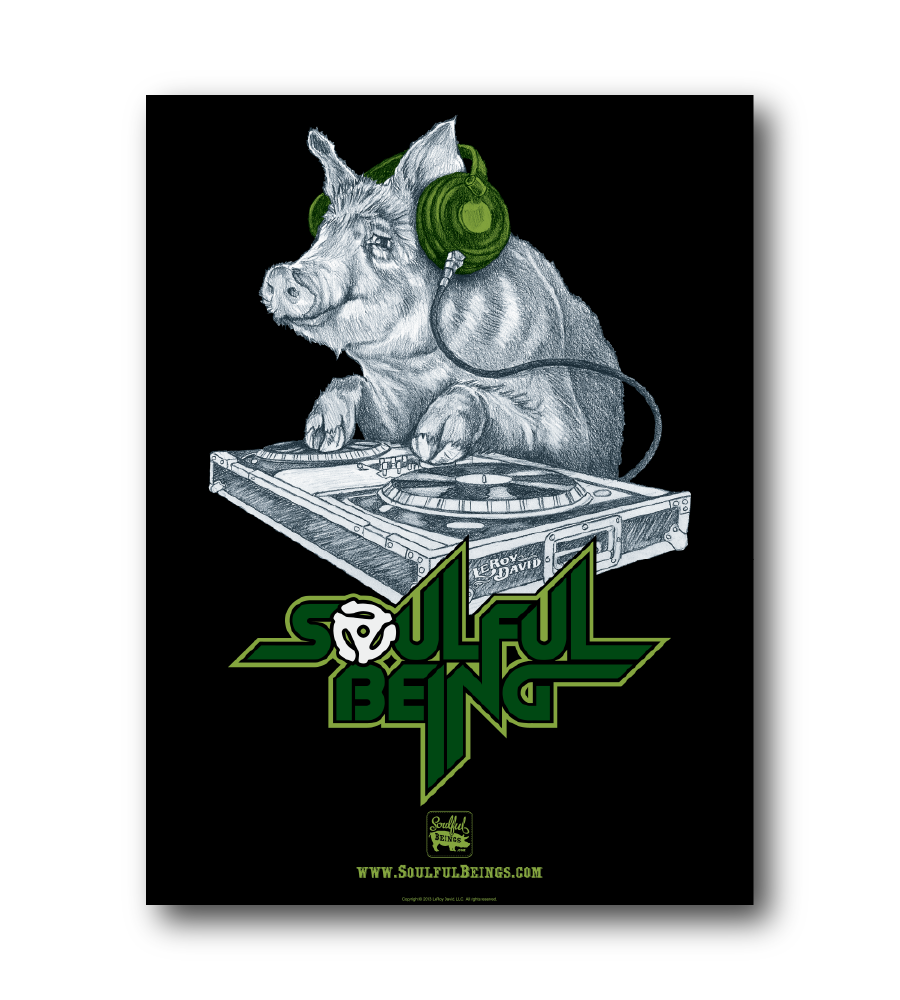 """Image of Deejay Pig 18"""" x 24"""" Poster"""