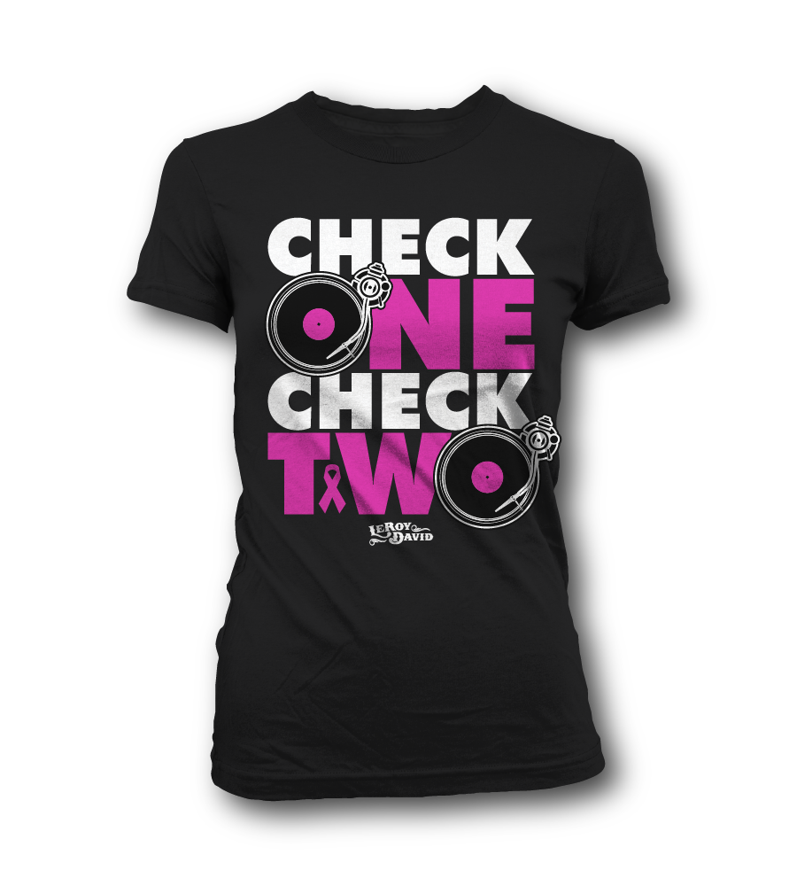 Image of Check 1-2 (Turntables) Tee (Women's)