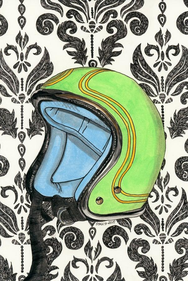 Image of Green Vintage Helmet