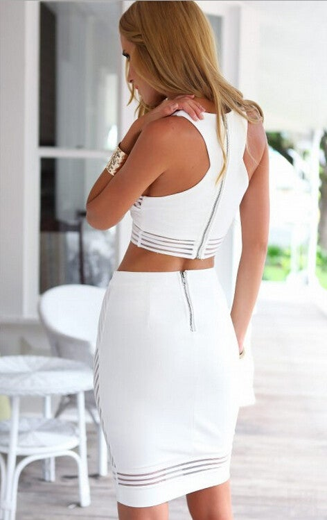Image of HOT TWO PIECE WHITE DRESS