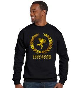 Image of Black crew neck sweatshirt