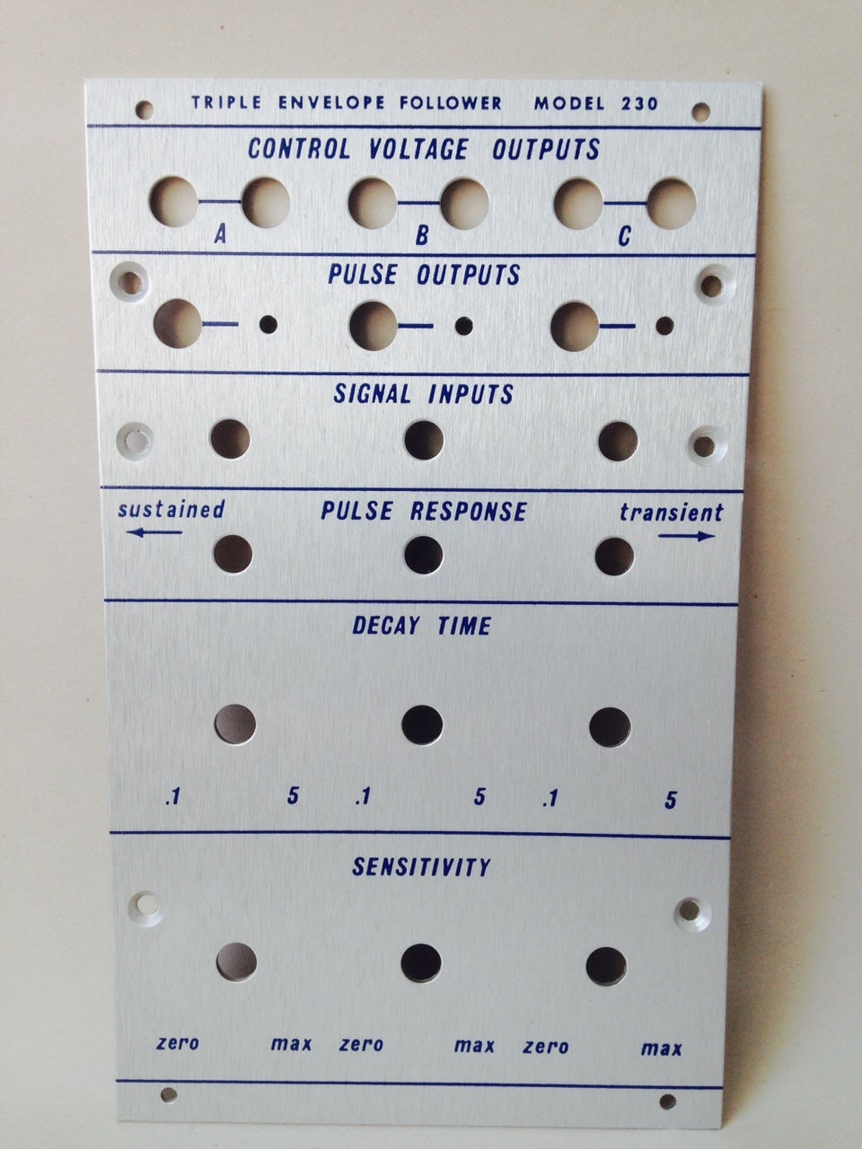 Image of 230 front panel (for DIY kit)