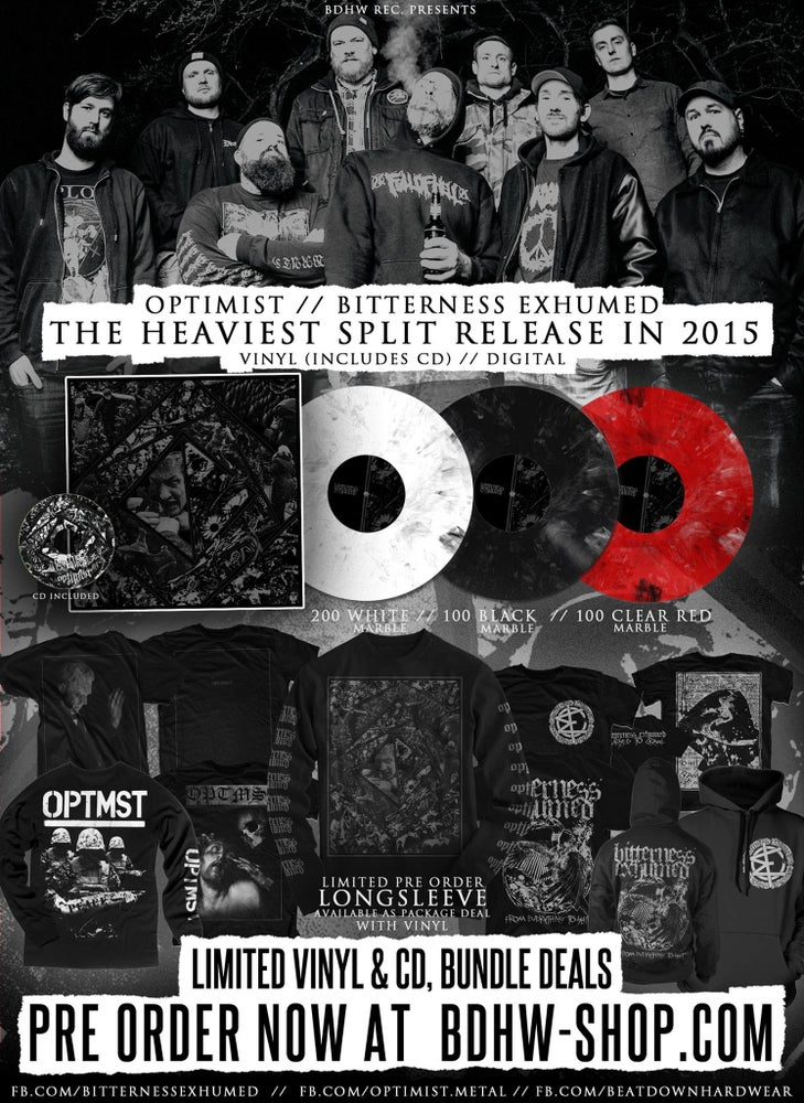 "Image of SPLIT 12"" w/ OPTIMIST / EXCLUSIVE MERCH PREORDER"