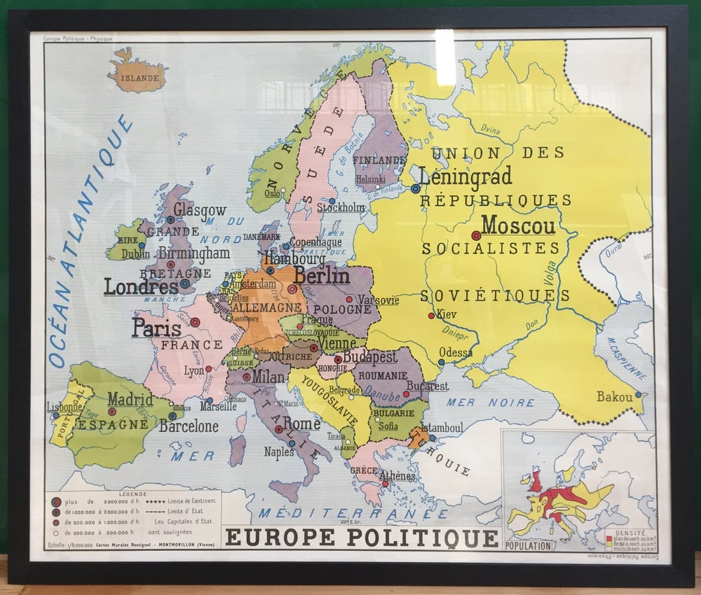 Image of 1950s Map of Europe