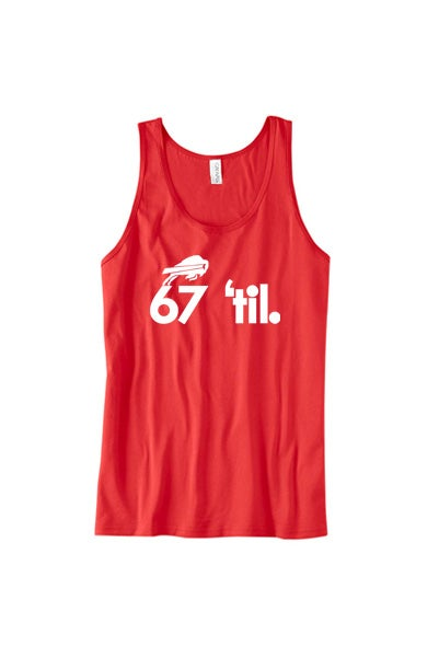 Image of Bison Forever Tank (Men's Red)