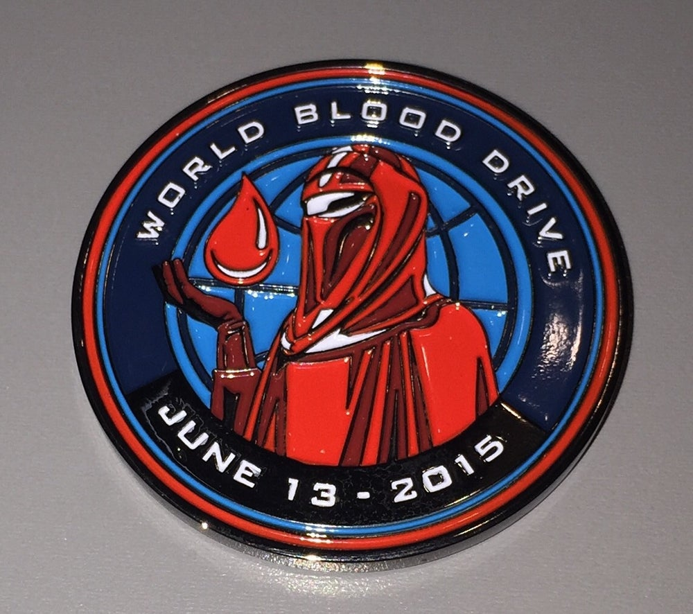 "Image of World Blood Drive Day 2015 1.5"" Challenge Coin"