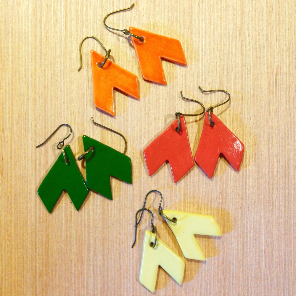 Image of Chevron Earrings