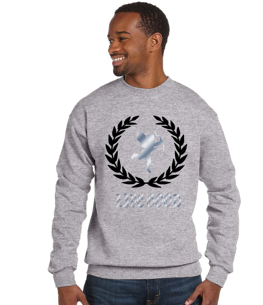 Image of Grey crew neck sweatshirt