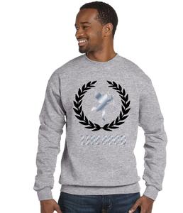 Image of Grey crew neck sweatshirt