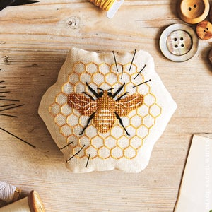 Image of Honey Bee Pin Cushion - Supply Kit Only