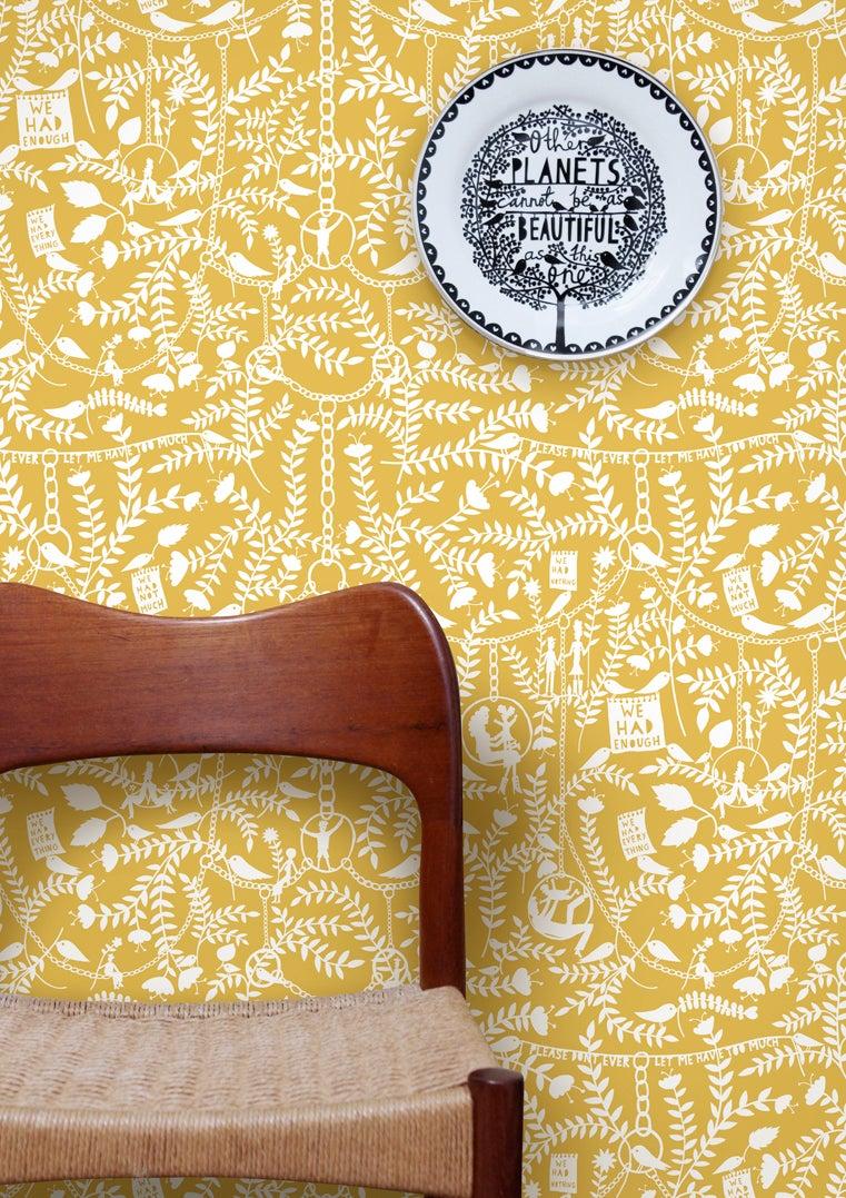 Mustard Design Wallpaper : Mini moderns we had everything wallpaper mustard