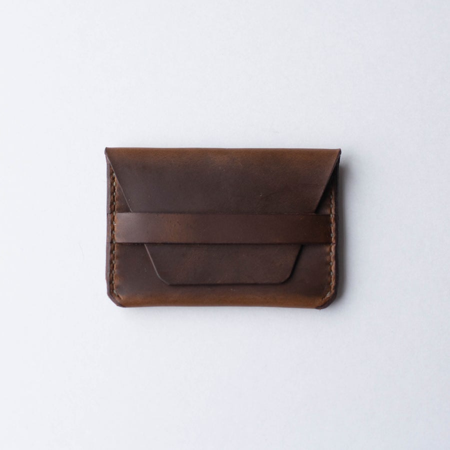 Image of Golden Brown Flap Wallet