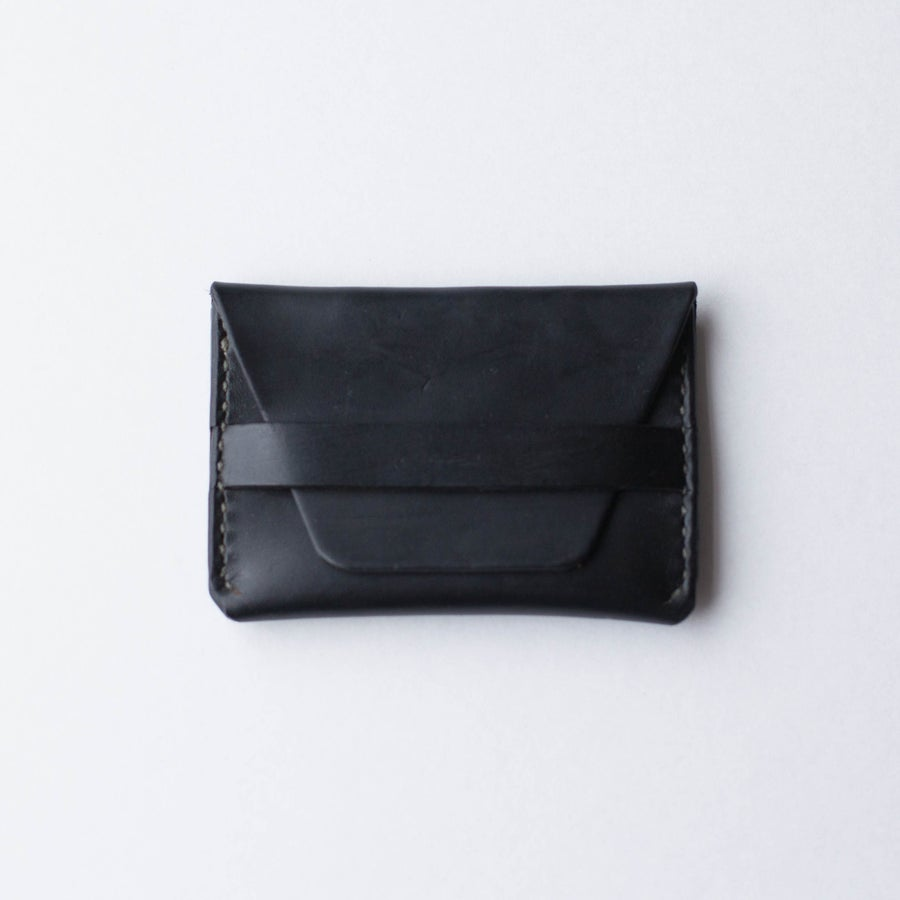 Image of Black Flap Wallet