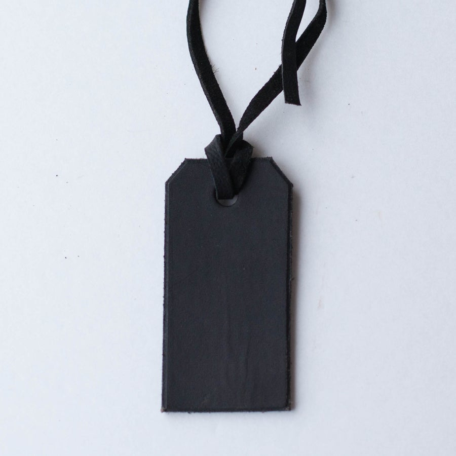 Image of Black Leather Tag