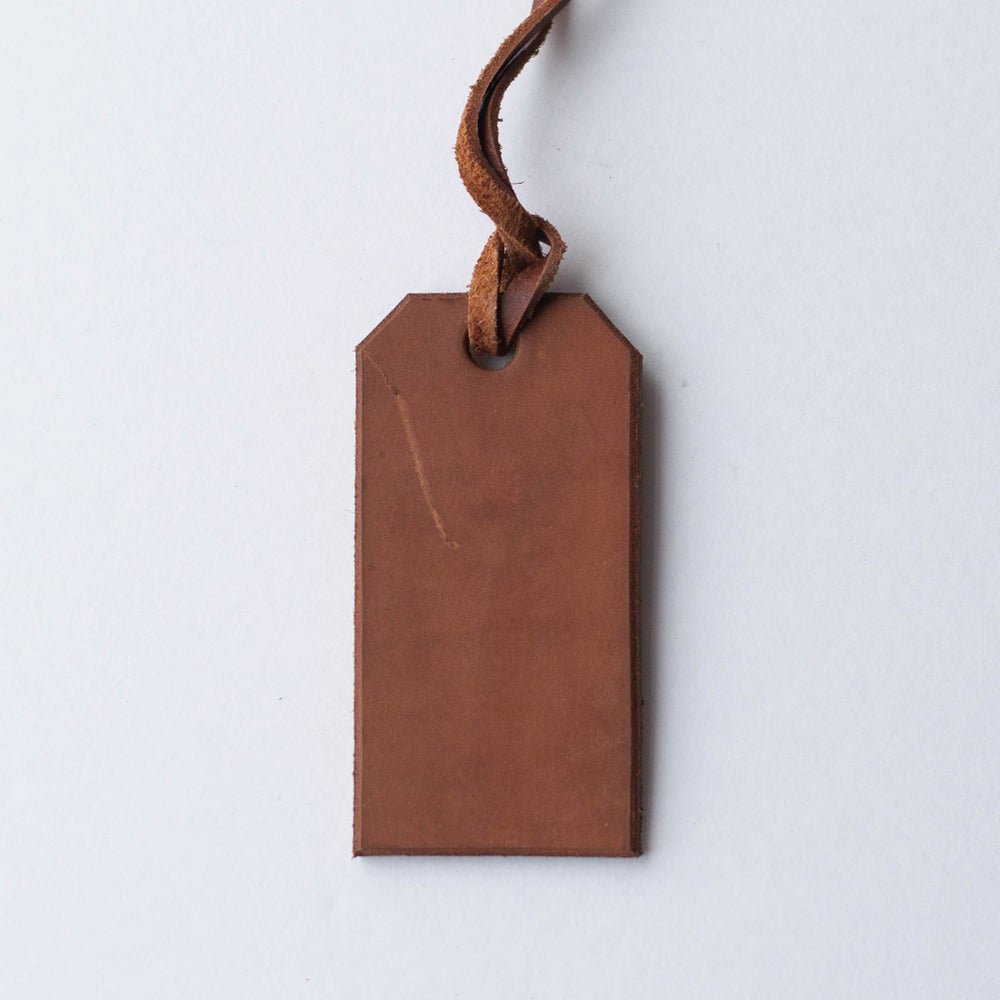 Image of Brown Leather Tag