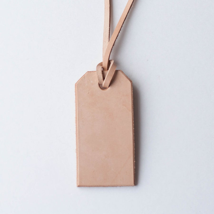 Image of Veg Tan Leather Tag