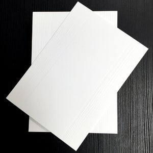 Image of Wood Grain Letterpress Flat Notecards (Set of 25)
