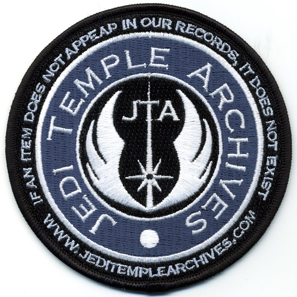 Image of Jedi Temple Archives Site Patch With Slogan