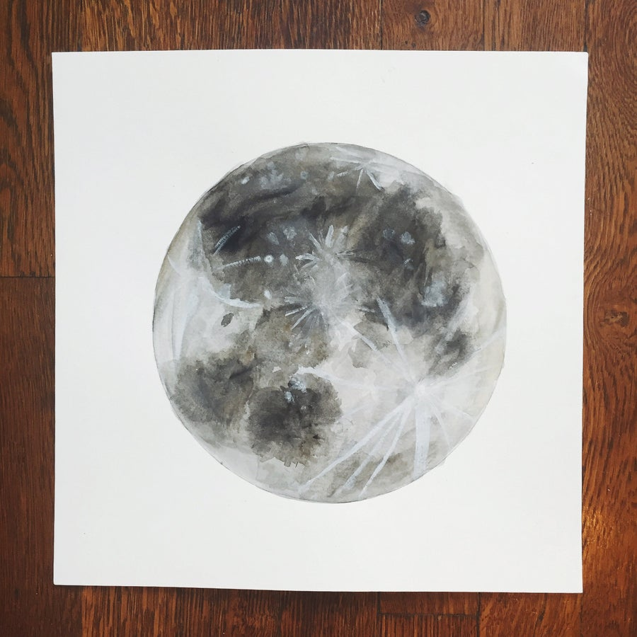 Image of Moon - 12x12