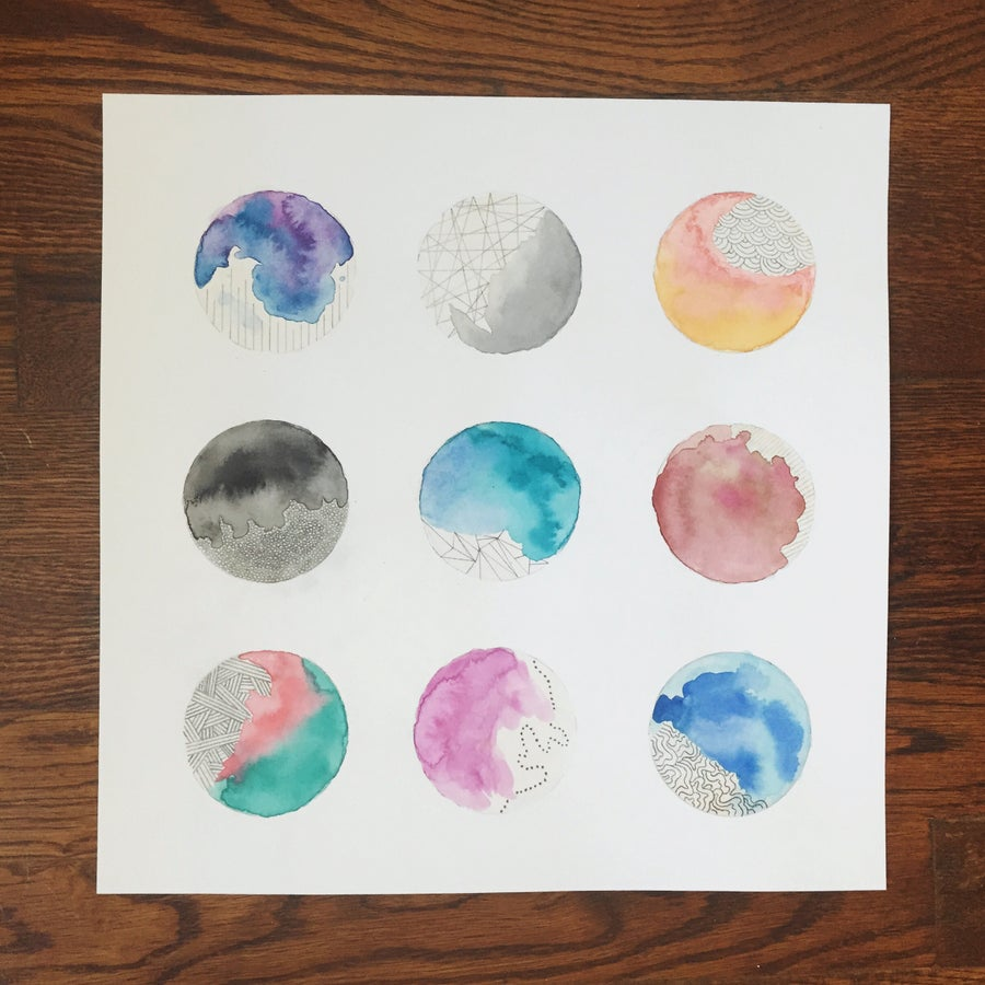 Image of Nine Circles - 12x12