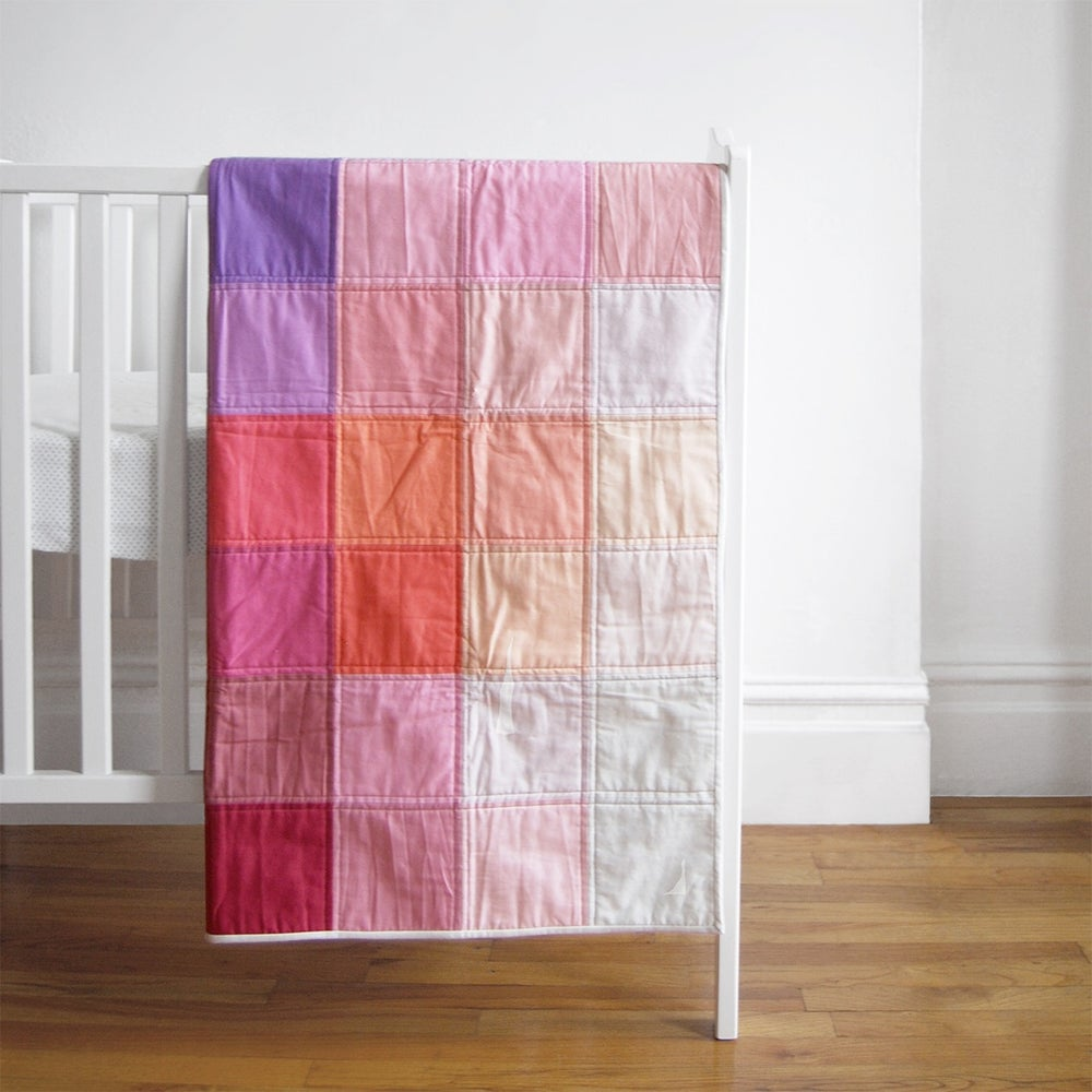 Image of Grid Quilt: Berry
