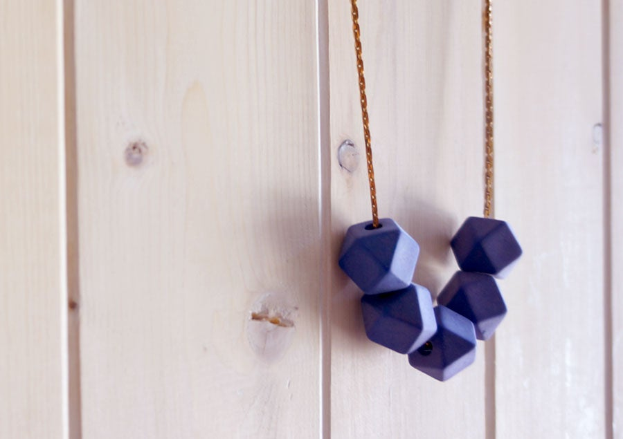 Image of Delta Necklace - Cobalt
