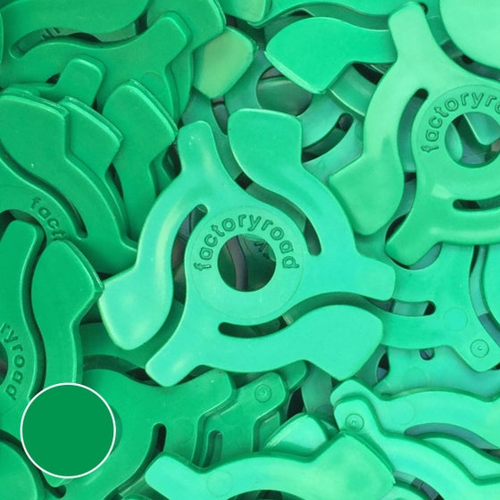 Image of Green 45rpm Adapters - 10 Pack