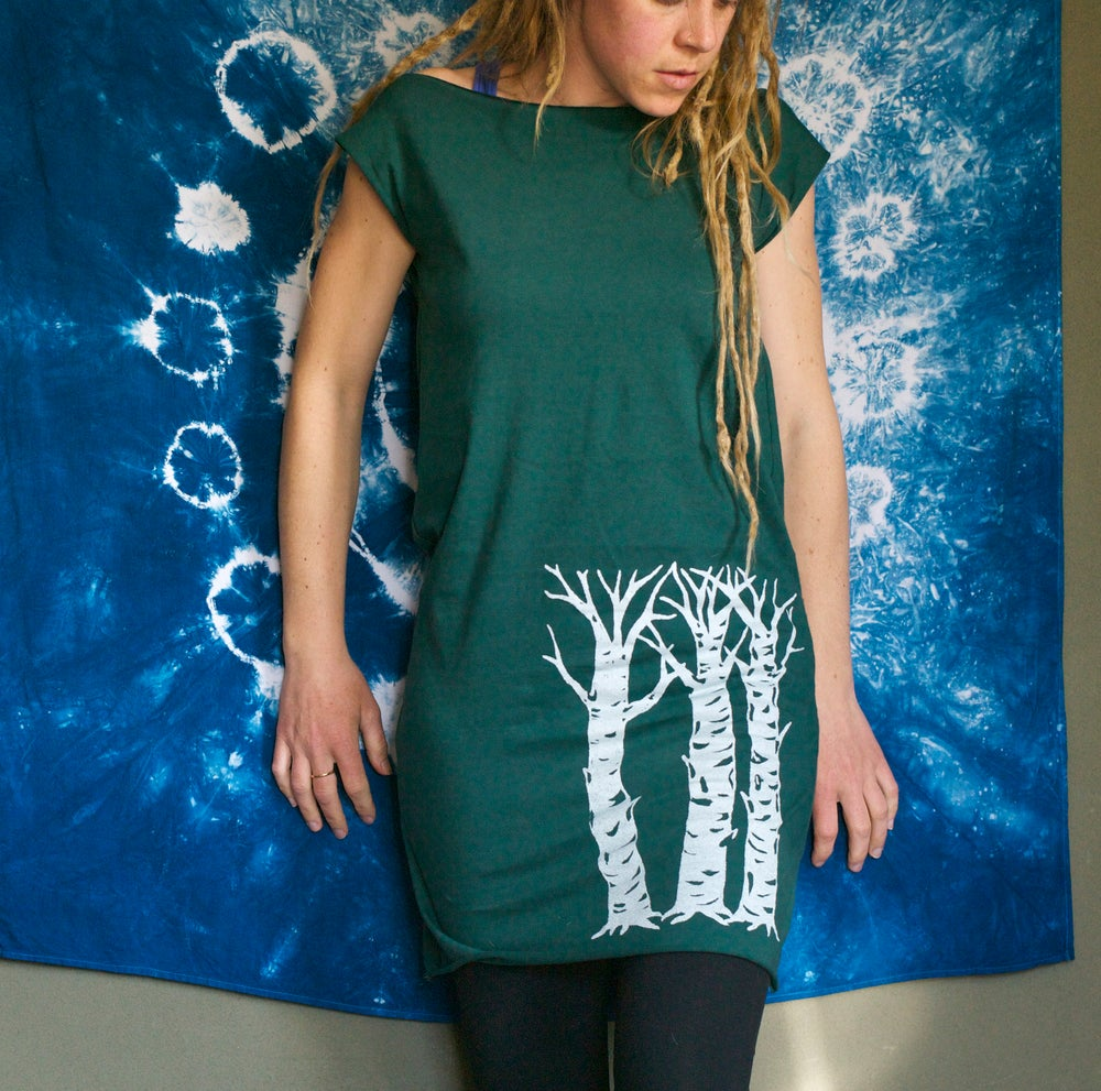 Image of Three Sisters- Forest Green Jersey Dress (made in the USA)