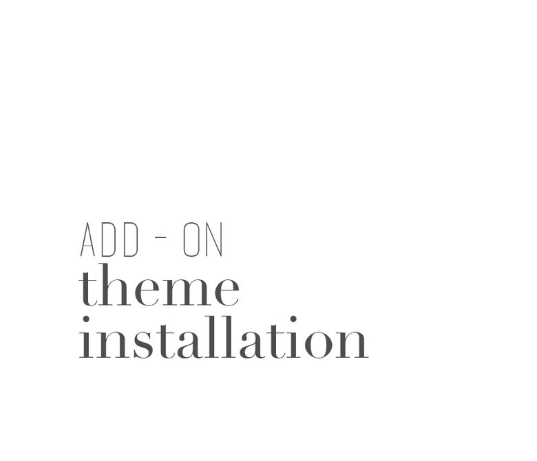 Image of Theme Installation