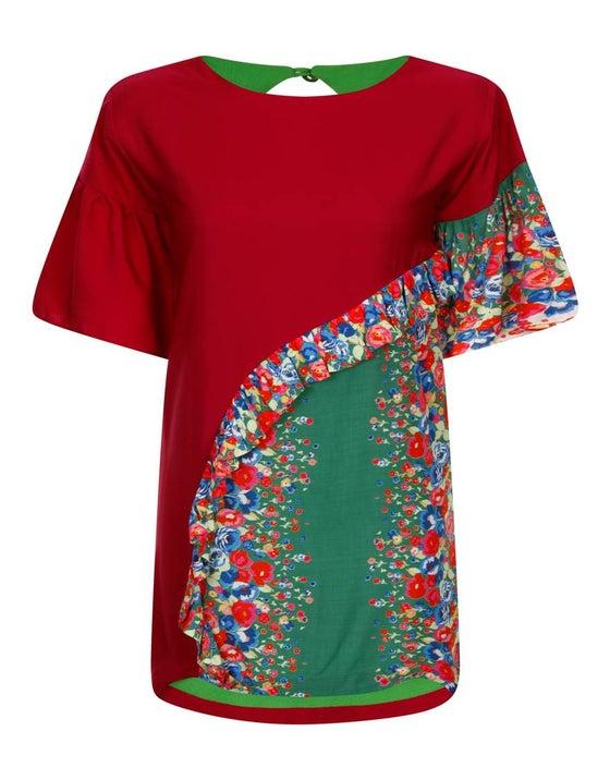 Image of CHiCHiA LUXE CONCEPT | The 'KUSANYA' Ruffle Dress