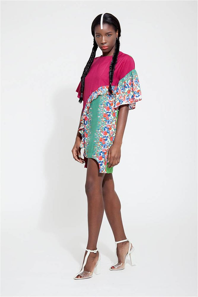 Image of CHiCHiA LUXE CONCEPT | The 'KUSANYA' Ruffle Dress