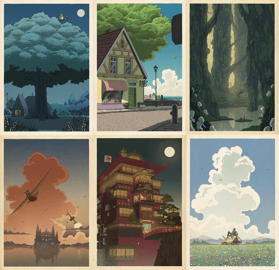 Image of Hayao Miyazaki/Japanese print set