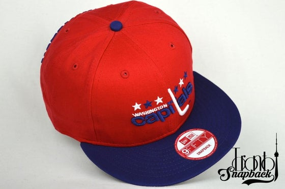 Image of Washington Capitals Red/Blue/White New Era Snapback Cap