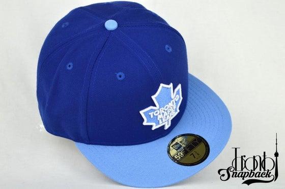 Image of TORONTO MAPLE LEAFS NEW ERA HATS (NIKE LEBRON X BLUE DIAMONDS)