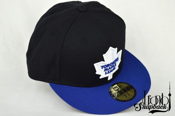Image of TORONTO MAPLE LEAFS BLK/BLU/WHT NEW ERA 5950 FITTED CAP
