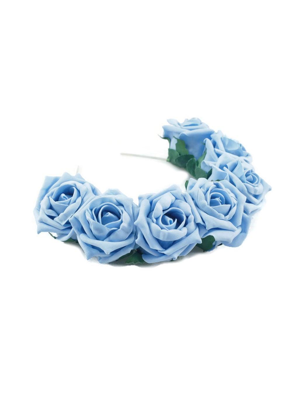 Image of Blooming Rose Crown Cornflower