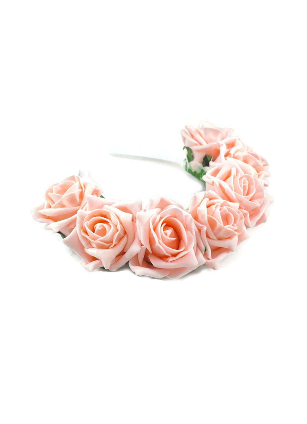 Image of Blooming Rose Crown Peach