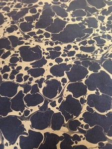 Image of NEW: Metallic Gold vein on black paper