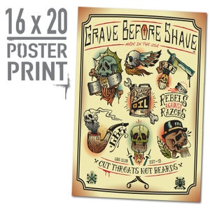 Image of GBS Cut Throats Not Beards Poster Print