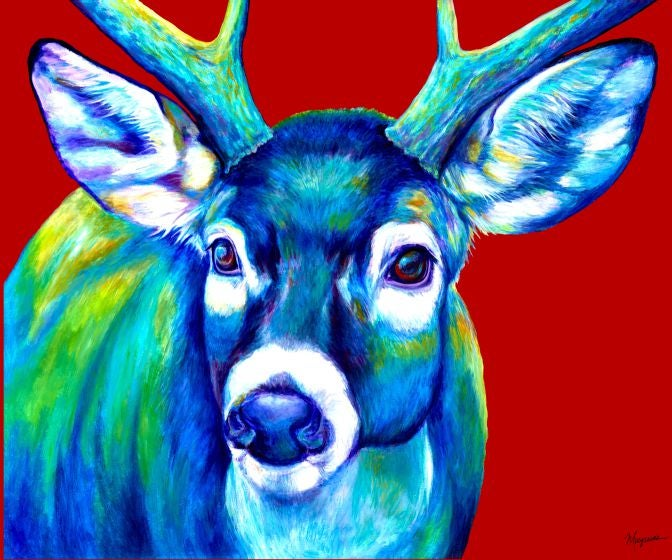 "Image of ""Blue Buck"" Canvas Gicleé"