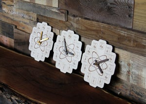 Image of Wood Periodic Table Clock - Baltic Birch Plywood