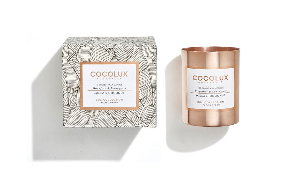 Image of COCOLUX l Grapefruit & Lemongrass infused in Coconut wax 150g