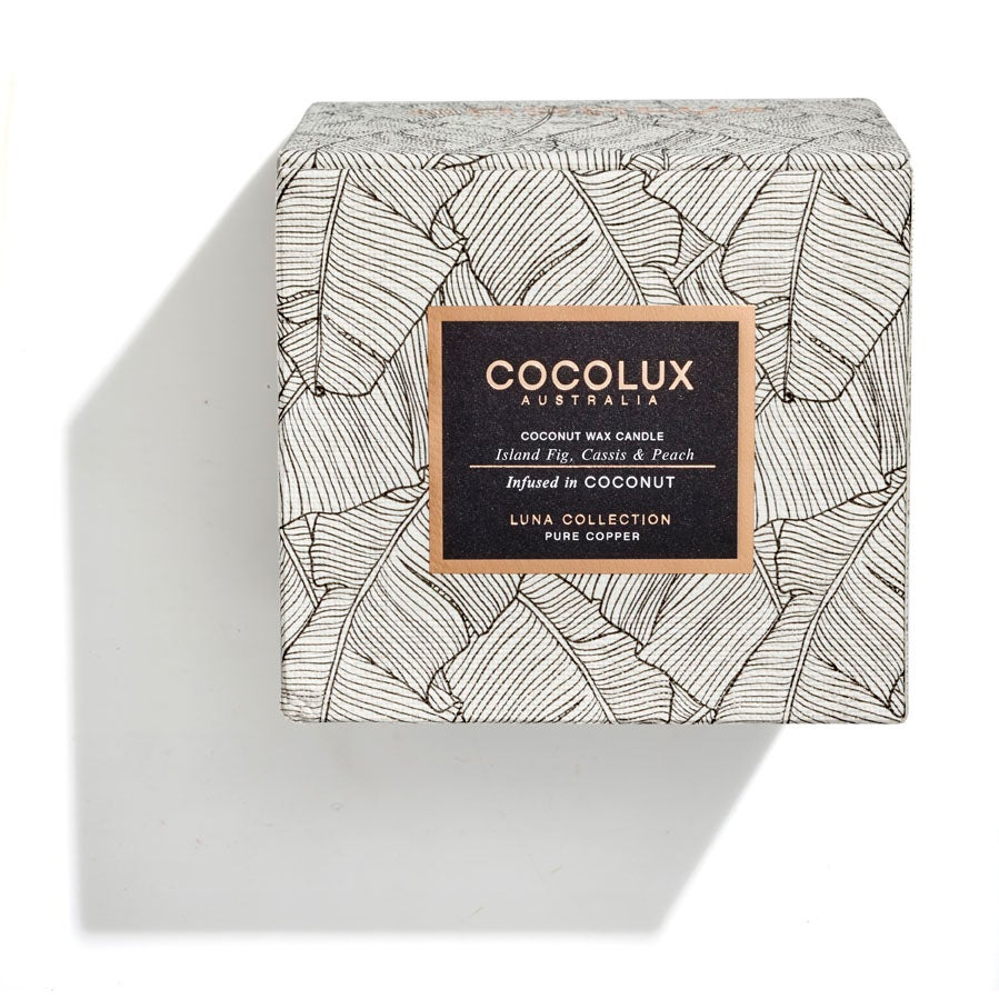 Image of COCOLUX l Island Fig, Cassis & Peach infused in Coconut wax 350g