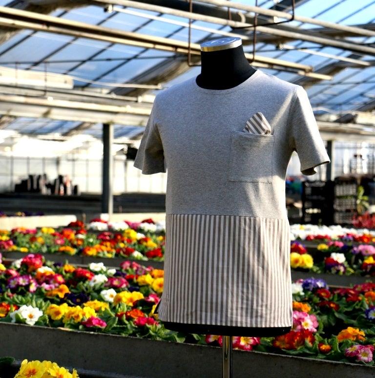 Image of untitleDV _ t-shirt metà/metà _ beige-panna