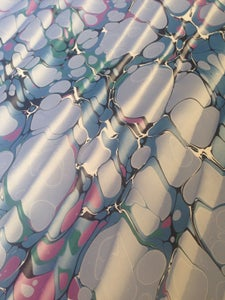 Image of Pattern #6 Spanish Ripple Marbled Paper